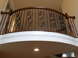Wrought Iron Banister Stair Railings With Wrought Iron Balusters Mitre Contracting Inc