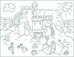 Free Sand Castle Coloring Sheet For Kindergarten Fun Coloring Sandcastle Coloring Page
