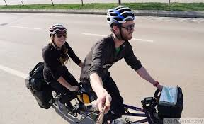 Blind Man Rides Bike Tandem Bicycle Touring Everything You Need To Know Cyclingabout