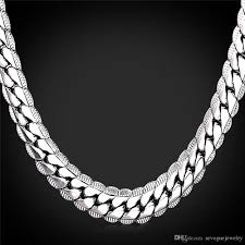 plated necklace chains images Platinum plated necklace for men 18in 32in 9mm platinum plated jpg