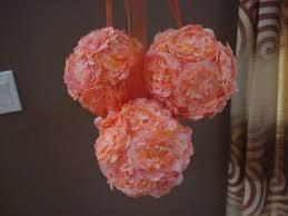 Pomander Balls Coffee Filter Pomander Balls Wedding Ceremony Diy Flowers