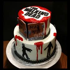 Halloween Cake Walk by The Walking Dead Cake Design Pinterest Walking Dead Cake