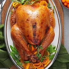 Recipes For Roast Turkey Thanksgiving Cranberry Orange Roasted Turkey Recipe Taste Of Home