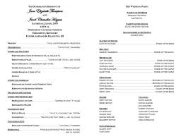 Ceremony Order For Wedding Programs Creative Wedding Programs Wedding Programs Program Template And