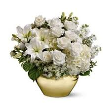 white floral arrangements white flowers white flower arrangements teleflora polyvore