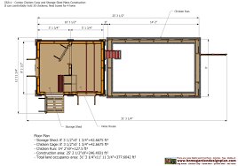 Storage Building Floor Plans Shed Plans Building Cb211 Combo Chicken Coop Garden Shed Plans