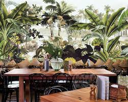 monkey wallpaper for walls beibehang 3d wallpaper nostalgic hand painted rain forest banana