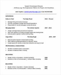 Resume Order Of Work Experience The Order Of Good Chronological Resume Sample