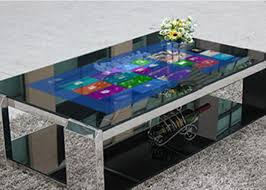 Gaming Coffee Table Screen Table Interactive Digital Signage Touch Screen Gaming Table