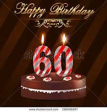 60 years birthday 60 year happy birthday card cake stock vector 198686897