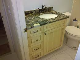 Bathroom Vanity Granite Top by Gray White Marble Counter Top With Single Sink Placed On The Cream