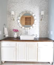 How To Tile A Bathroom Countertop - best 25 vanity backsplash ideas on pinterest glass mosaic tiles