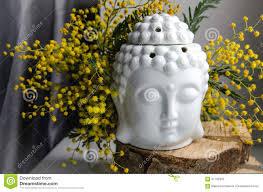 spiritual ritual meditation face of buddha on wood home decor