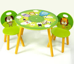Green Table L Furniture Green And White Stained Hardwood Preschool Table And