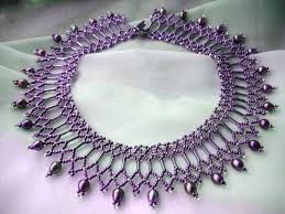 beaded seed bead necklace images Free pattern for beautiful beaded necklace diane beads magic jpg