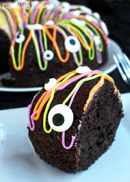Halloween Monster Cakes by Bundt Cake