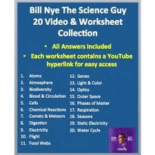 bill nye science video worksheets complete 20 video worksheet