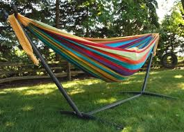 space saver combo caribbean hammock stand and brazilian double