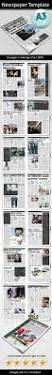 newspaper template print templates newsletter templates and fonts