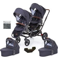 abc design tandem abc design zoom tandem pushchair with 2 x carrycot