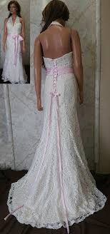 pink lace wedding dress lace halter mermaid wedding dresses