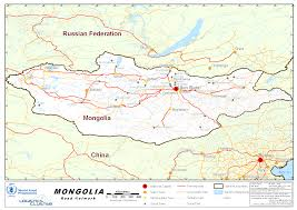 Mongolia Map 2 3 Mongolia Road Network Logistics Capacity Assessment Wiki