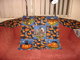 halloween fabric tablecloth use what you have craft the final frontier