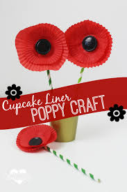 easy cupcake liner poppy craft flower crafts poppy flowers and