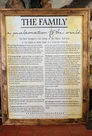 framed family proclamation family proclamation with rustic frame freckle barn