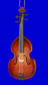upright bass ornament mini bass fiddle wood 4 small liana