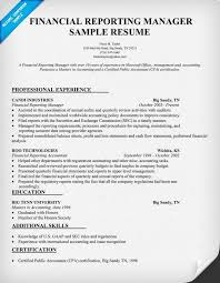 resume objective exles for accounting manager resume financial reporting manager resume sle resume sles across