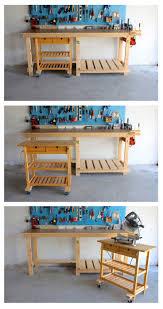 Rolling Work Bench Plans Garage Workbench Mobile Workbench Garage Literarywondrous Shop
