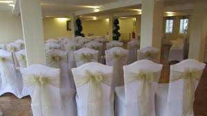 how to make chair sashes event decoration www bestwishes uk table centrepieces