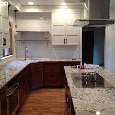 Two Toned Kitchen Cabinets by Exciting Two Tone Style Kitchen With Brown Green Colors Kitchen