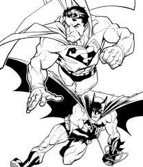 superman batman coloring pages batman cartoon coloring pages