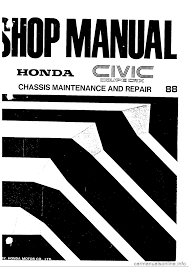 honda civic 1990 4 g workshop manual