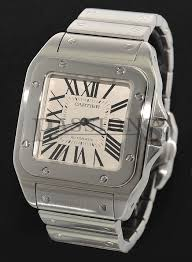 cartier bracelet steel images Cartier gents 38mm quot santos 100 quot automatic ref w200737g2656 in jpg