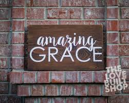 home decor rustic christian amazing grace wood sign gift for her