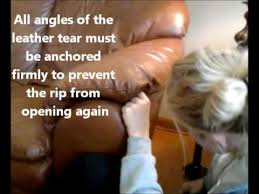 How To Repair Leather Sofa Tear How To Sew Leather And Repair Leather Sofa By St Louis Leather