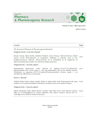 sin embargo existen algunas formas de presentacin comnmente journal of pharmacy pharmacognosy pdf download available