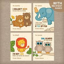 s day cards for classmates personalized zoo animal s cards zoos cards and