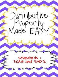 distributive property made easy common core aligned 3 oa 5 and 3