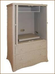 Computer Armoire With Pocket Doors Wicker Tv Stand Entertainment Center Computer Station