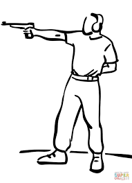 pistol target shooting coloring page free printable coloring pages