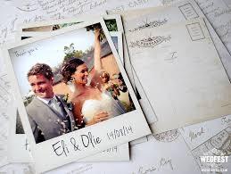 wedding thank you postcards polaroid photo wedding thank you card postcards wedding