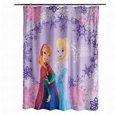 Walmart Kids Bathroom Disney Frozen Microfiber Shower Curtain Sisters Forever Elsa Anna