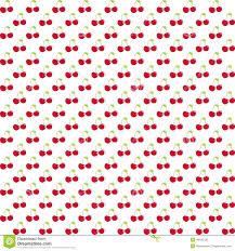 seamless pattern with watercolor berry cherry endless repeating
