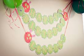 berries of wisdom the very hungry caterpillar party decorations the happy birthday banner was just 3 separate banner 1st banner read
