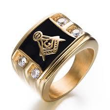 unique rings simple images Fashion simple titanium steel ring men stylish unique rhinestone jpg