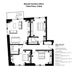 Floor Plans Gardens Of Denton Apartment Wandle Gardens West The Ram Quarter Wandsworth Sw18 3 Bedroom